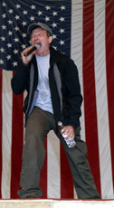Robin Williams during USO Tour